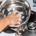 how to clean stainless steel pans and pots