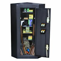 Corner gun safes